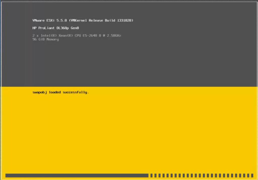 ESXi 5.5 Installer Loading