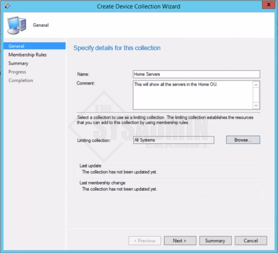 Create Device Collection Wizard