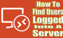 Find Users Logged Into A Server