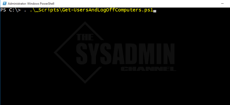 Get-UsersAndLogOffComputers DotSource