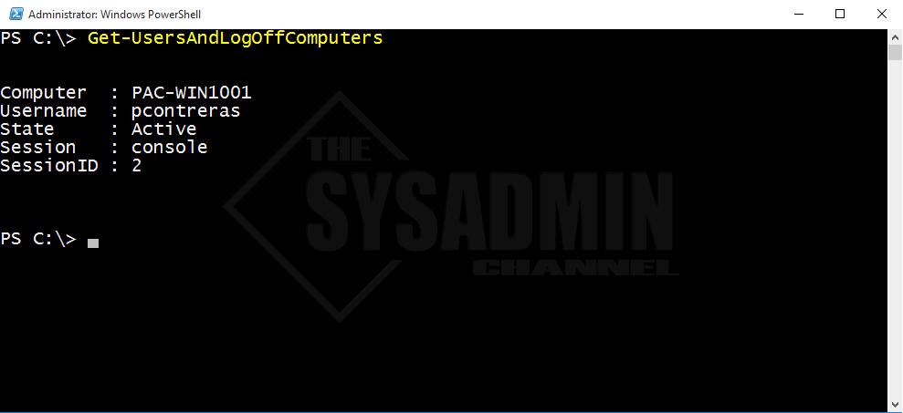 Get-UsersAndLogOffComputers