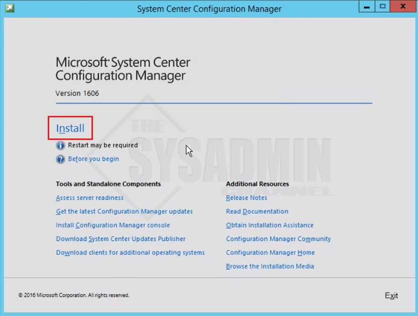 System Center Configuration Manager 1606
