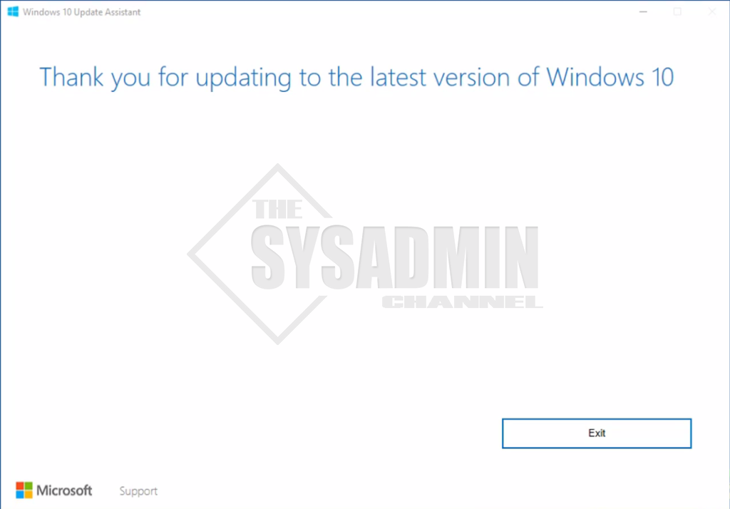 Thank You for Updating Windows to the latest version