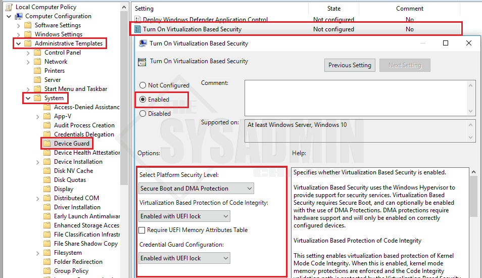 Enable Credential Guard in Windows 10