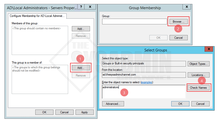 Configure Membership of Group