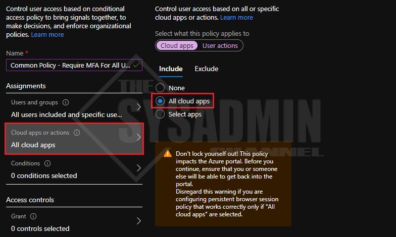 Azure MFA All Cloud Apps