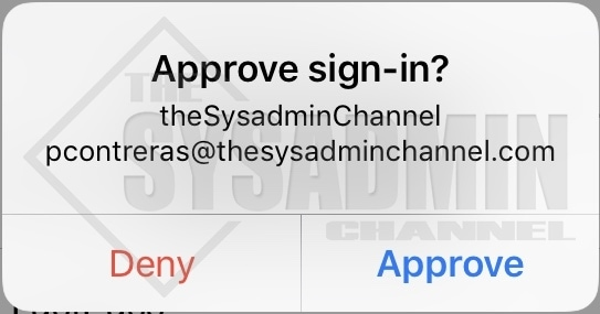 User Experience - Approve Sign in Request from Phone