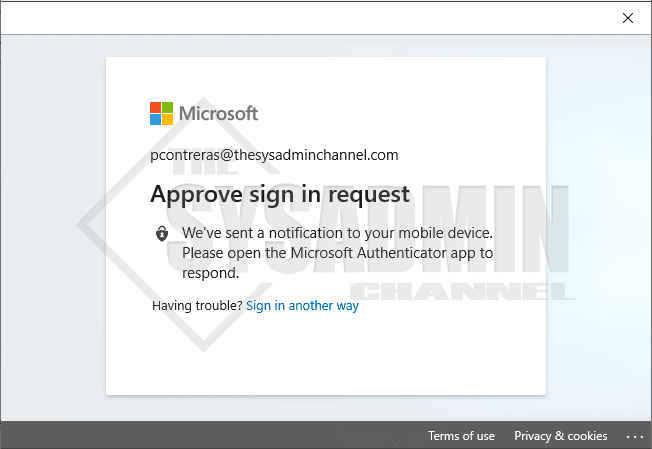 User Experience - Approve Sign in Request