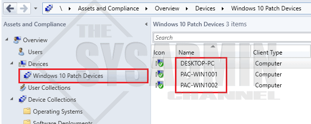 Windows 10 Patch Devices