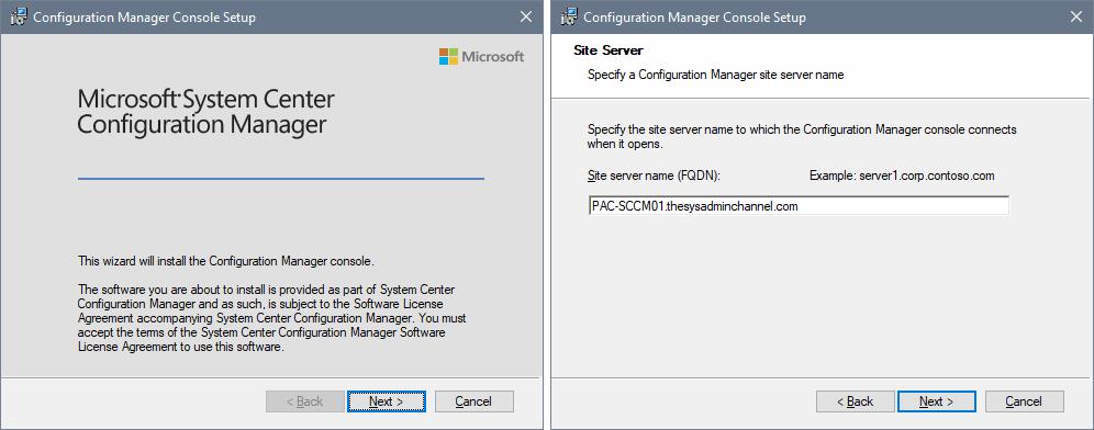 SCCM Admin Console On Windows 10
