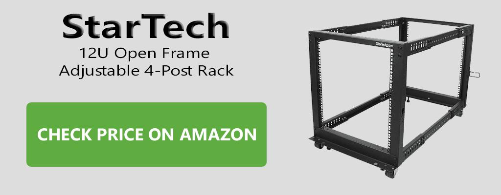 StarTech 12U Open Frame Adjustable 4-Post Rack