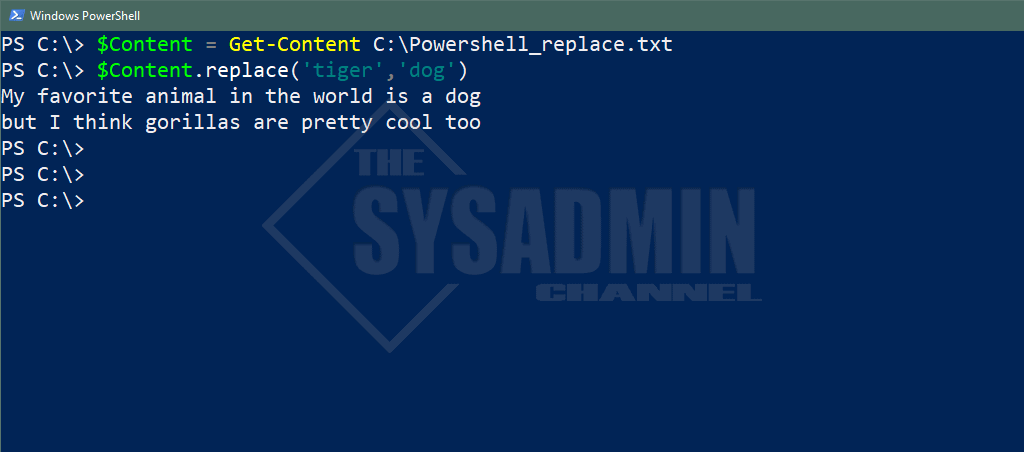 Replace text in string Powershell