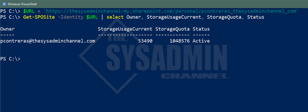 Check OneDrive Usage - Powershell Method
