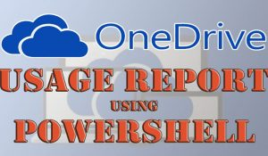 Check OneDrive Usage