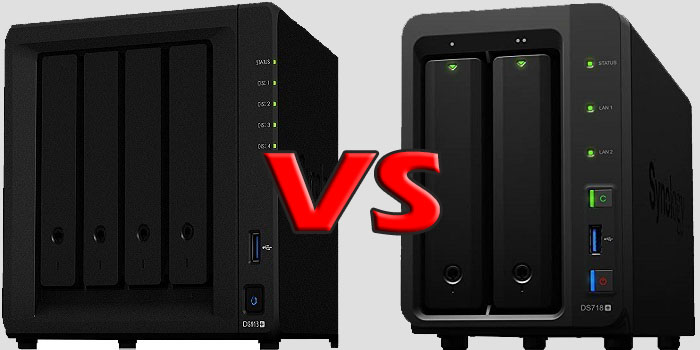 2 bay vs 4 bay Synology NAS