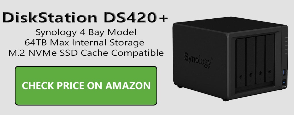 4 Bay Synology NAS DS420 Plus - Overall Best NAS For Plex 2021