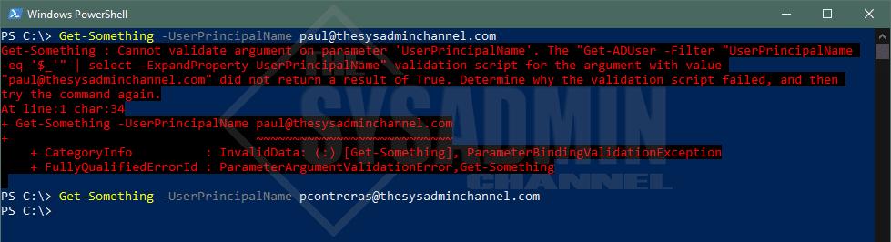 Get-Something Use ValidateScript Powershell