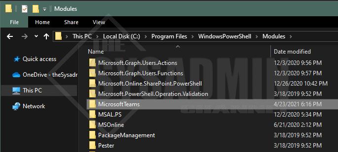 Install Teams Powershell Module