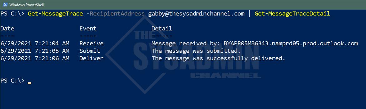 Get-MessageTrace Example 2