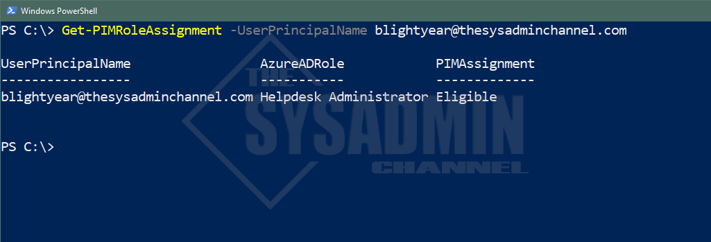 Get PIM Role Assignment Status For Azure AD Using Powershell