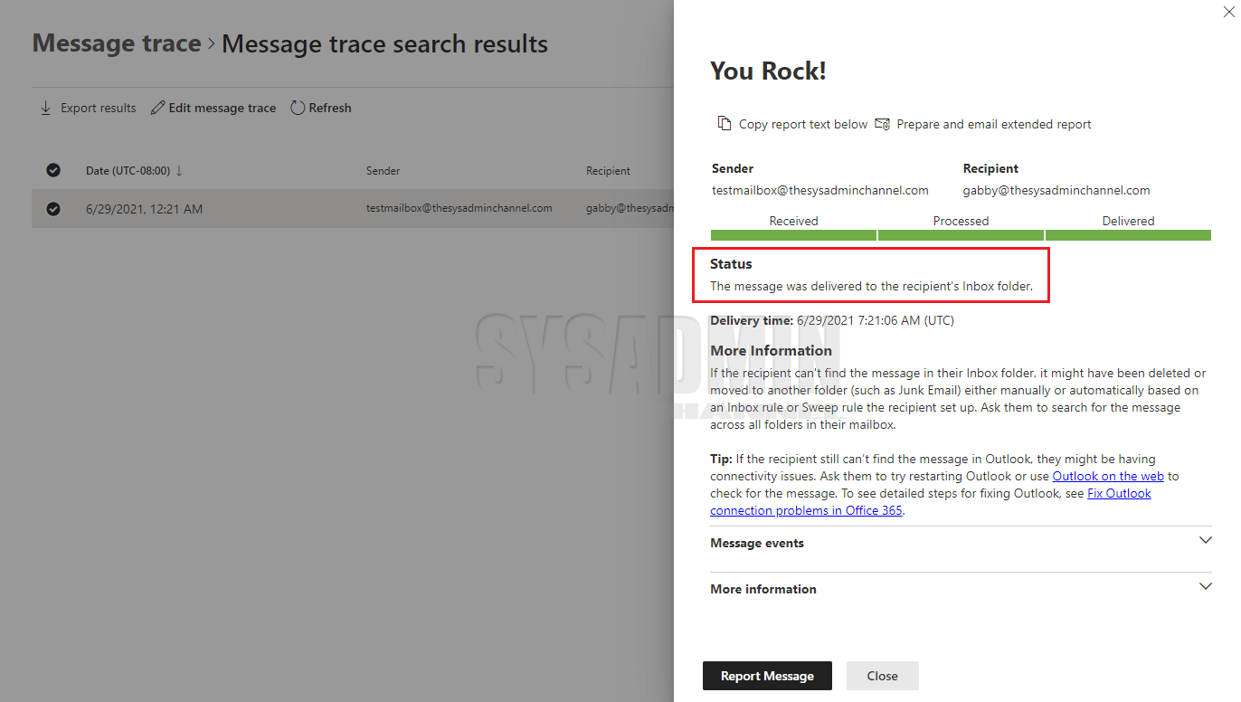 How to Use Message Trace in Exchange Online GUI