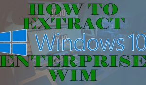 How to Extract Windows 10 Enterprise WIM From ISO File