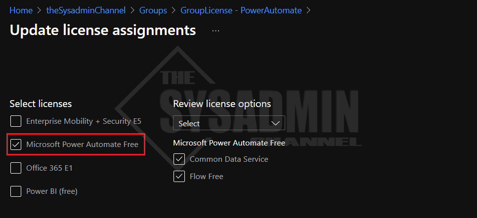 Update license assignments