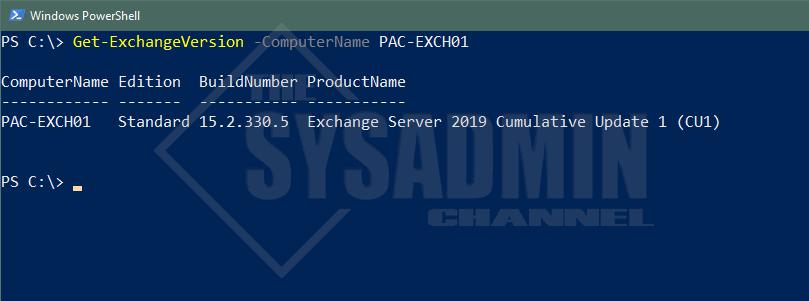 Get Exchange Version Powershell
